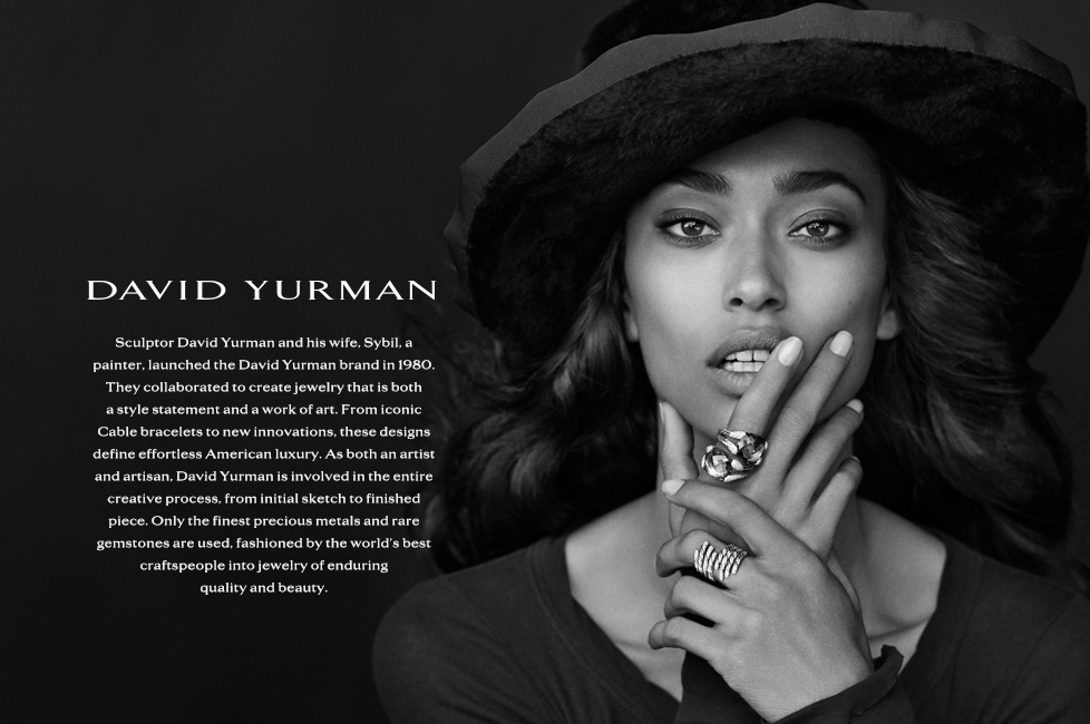 Dy fall 2013 jewelry landing pages for David s fine jewelry